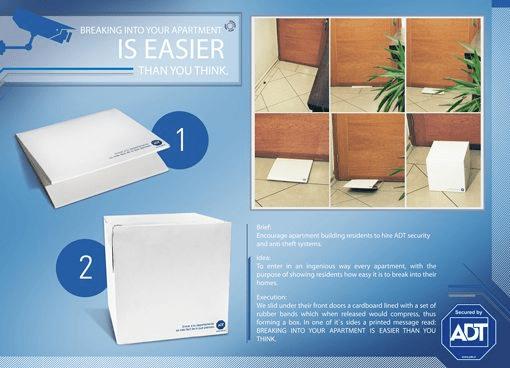 Надпись на коробке: «Проникнуть в ваш дом проще, чем вы думаете»