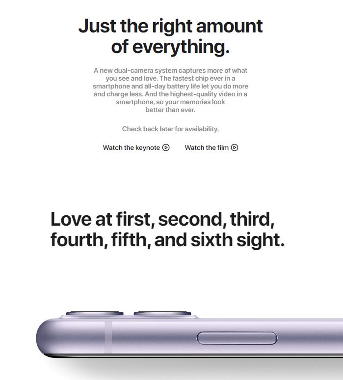 Лендинг iPhone 11