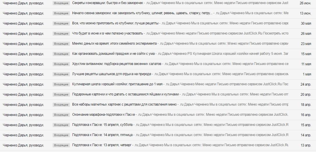 Письма от menunedeli.ru