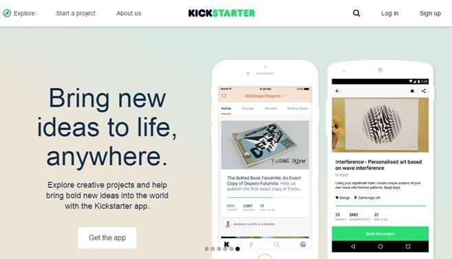 платформа краудфандинга Kickstarter