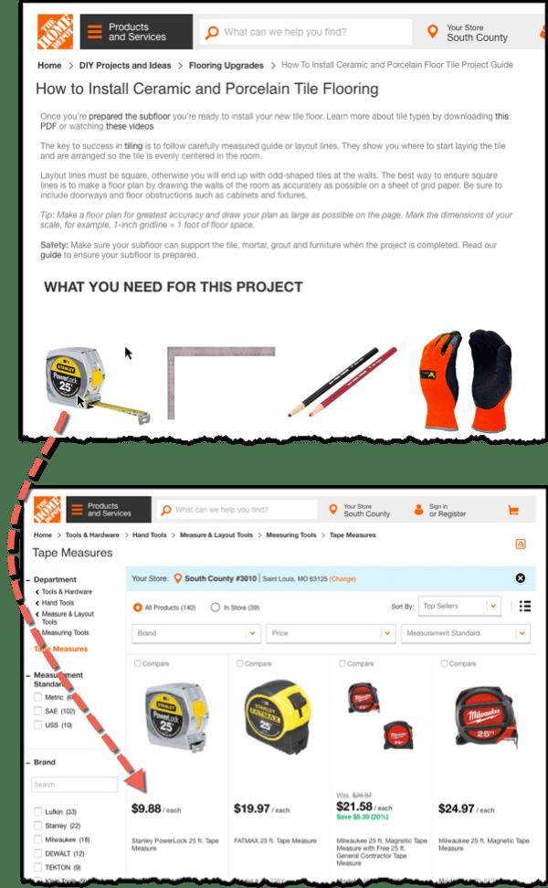 пример поста в блоге The Home Depot