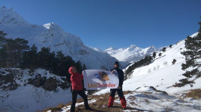 Партнёры UniSender идут на Эльбрус