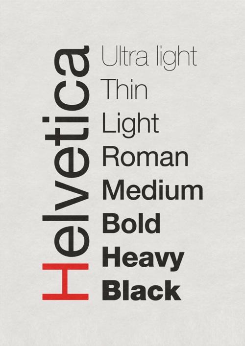 Шрифт Helvetica