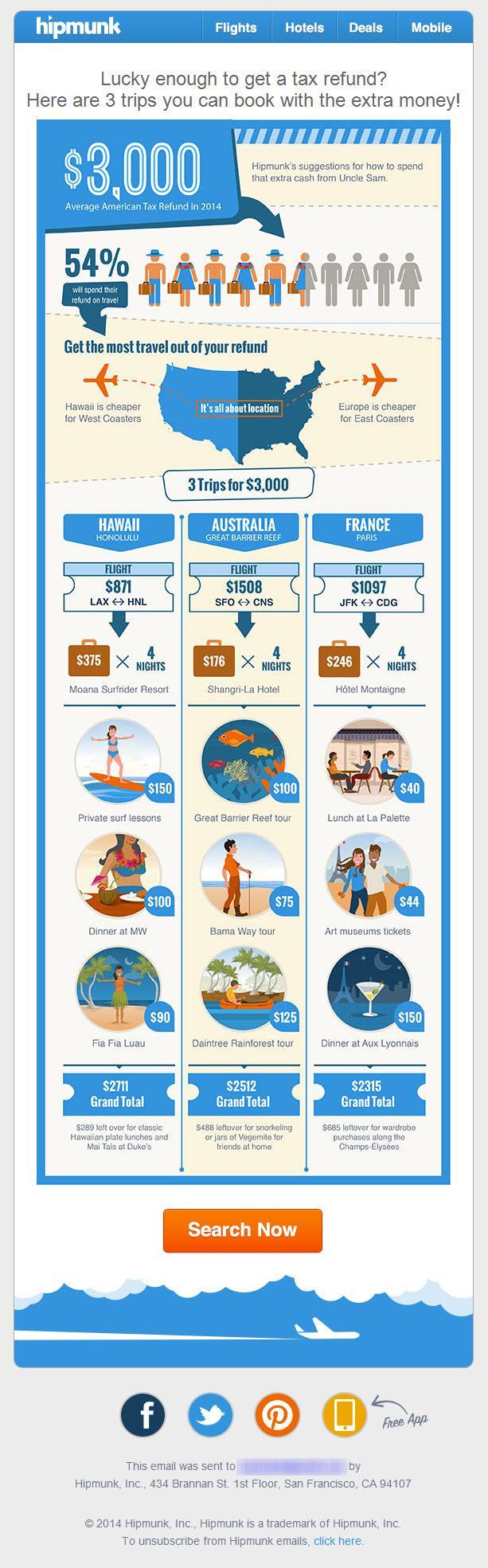 инфографика hipmunk