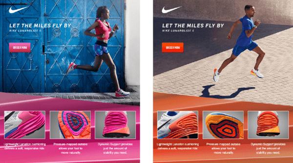 Письмо от Nike для мужчин и женщин