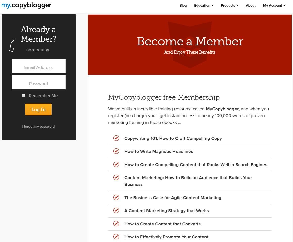 Бонус за подписку Copyblogger