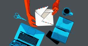как создать письмо без дизйнера