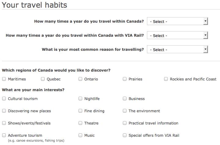 Опрос на сайте Visit Canada