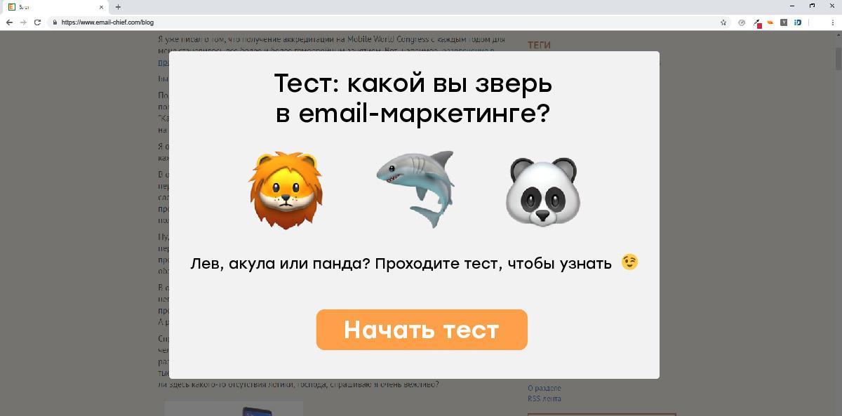 тест email-шефа