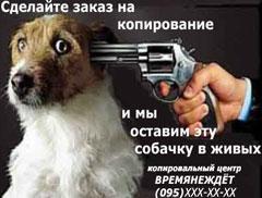 Пистолет, собака, шантаж