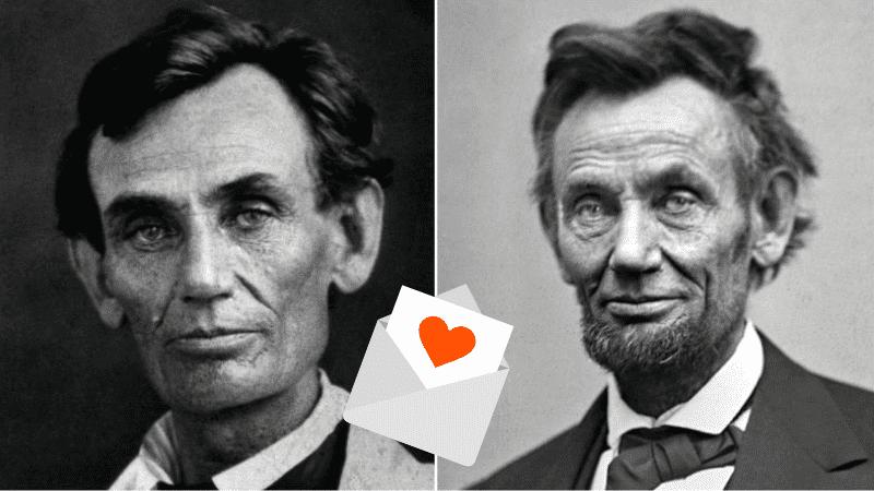 Авраам Линкольн с бородой и без нее