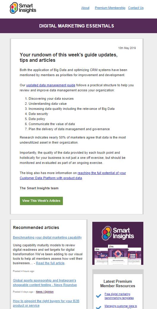 Рассылка Smart Insights