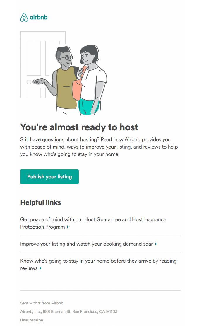 Приветственное письмо Airbnb для хостов
