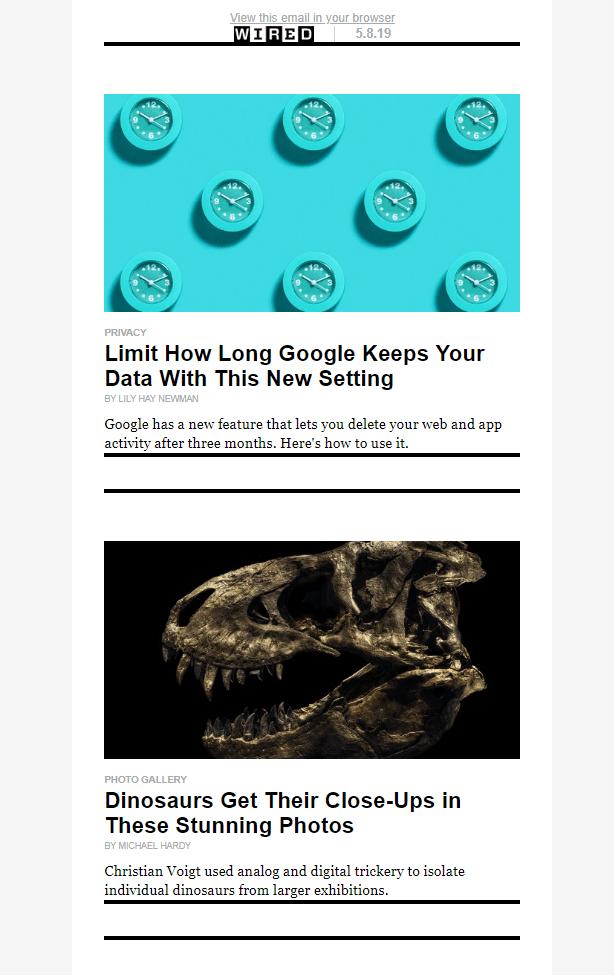 Рассылка Wired