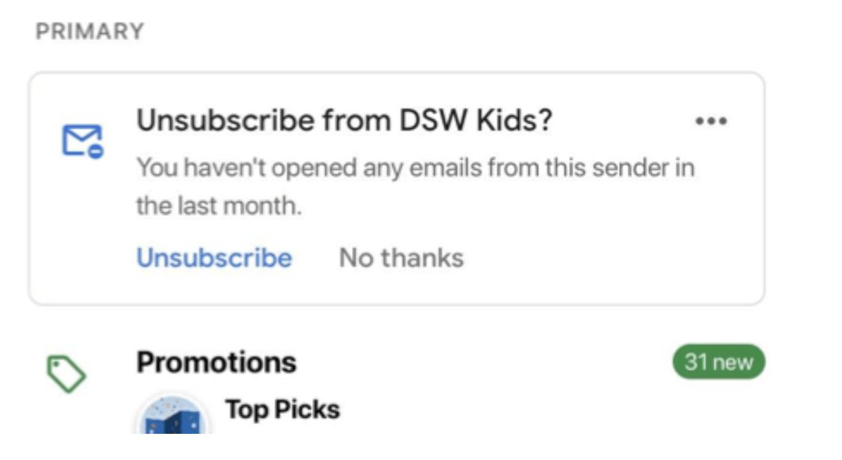 Введение упрощённой отписки вGmail неповлияло наобщий уровень отписок 1