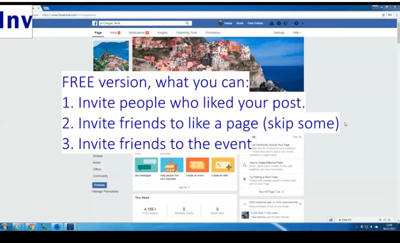 invite post likers