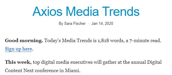 Рассылка с digital-новостями 14 января составила на 1800 слов — 7 минут