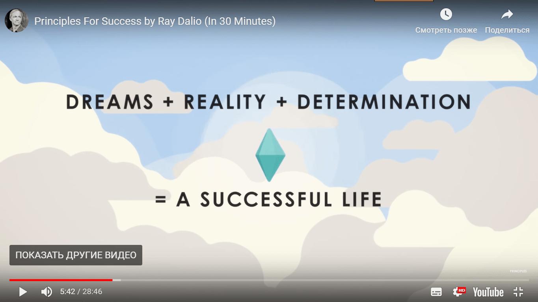 А вот Рэй Далио не поленился и переупаковал свой бестселлер «Принципы. Жизнь и работа» в серию получасовых анимированных роликов. Хороший вариант для тех, у кого нет времени читать оригинал