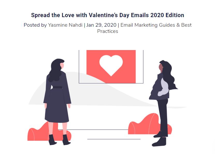 Гид по email к Дню святого Валентина в блоге Chamaileon