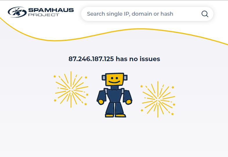 Проверка IP в спам-базах