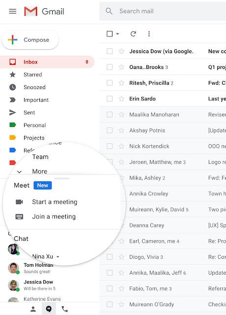 Запуск звонка из почты Gmail