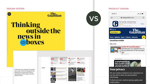Пример красивой дизайн-системы The Guardian, которая не работает