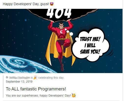 Поздравление с Днем разработчика для фантастических программистов