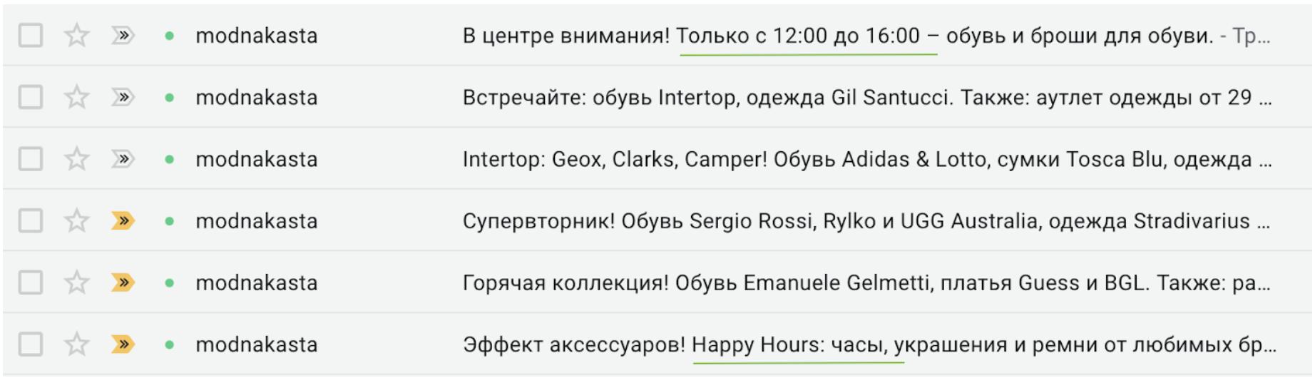 Пример акции длительностью 4 часа
