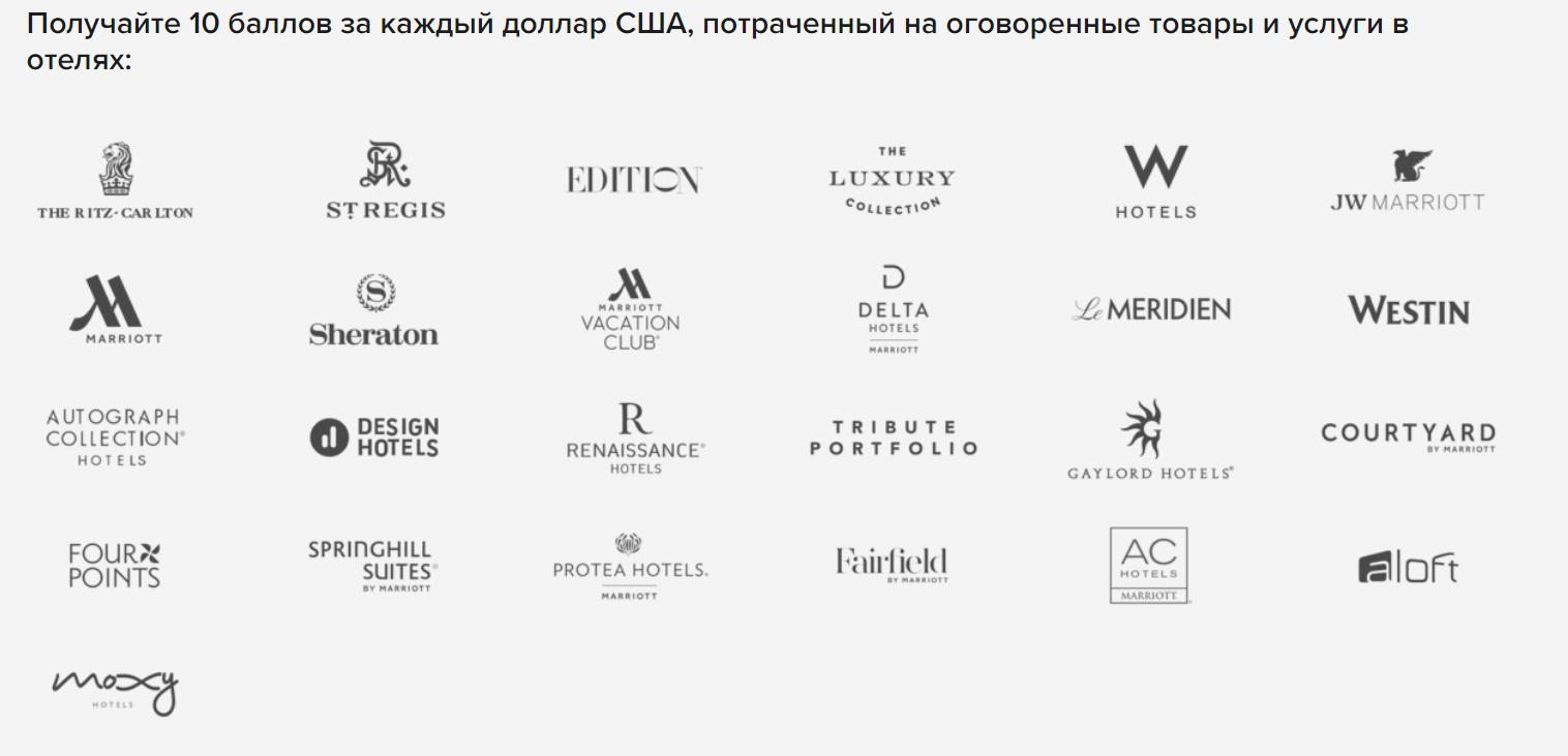 Необязательно выбирать только отели бренда Marriott, чтобы копить или использовать бонусы по программе Marriott Bonvoy