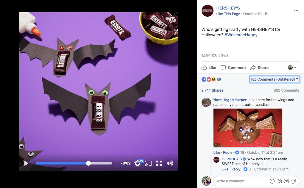Производитель шоколада Hershey's накануне праздника предложил пользователям серию коротких роликов с инструкциями, как легко и быстро сделать праздничные украшения и подарки из подручных материалов