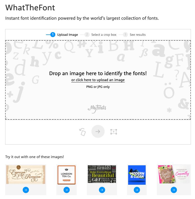 страница сервис WhatTheFont.