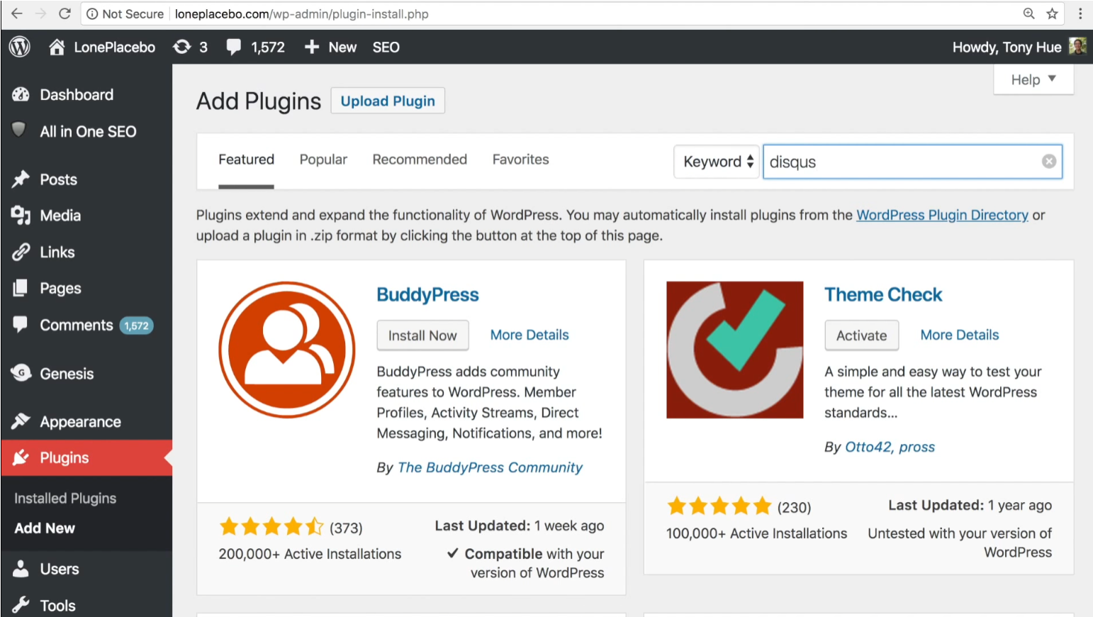 как установить Disqus на WordPress