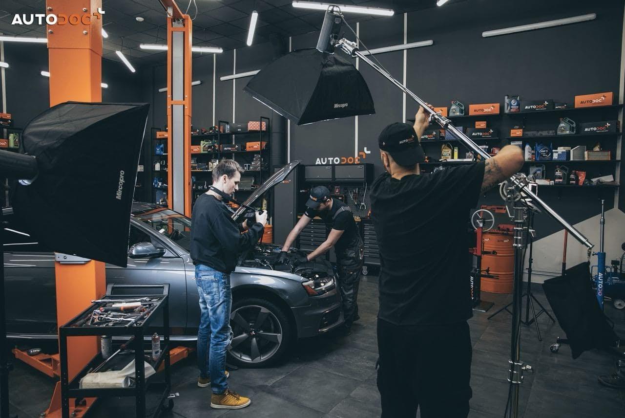 Так выглядят съёмки на студии Autodoc