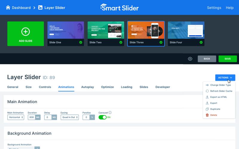 Плагин для WordPress Smart Slider