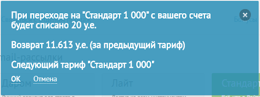 Системное сообщение о списании денег