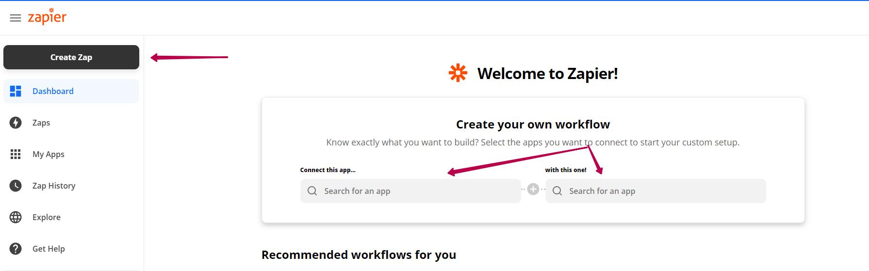 Как создать Zap