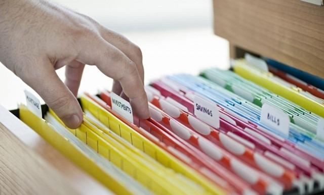 Пример организации архива бумажных документов