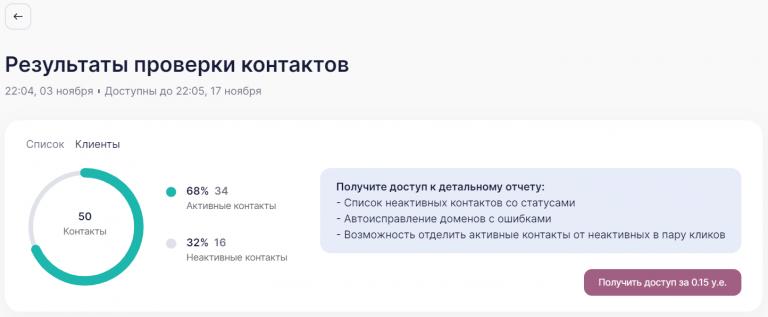 verification results.