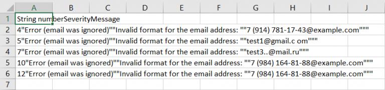 csv report format.