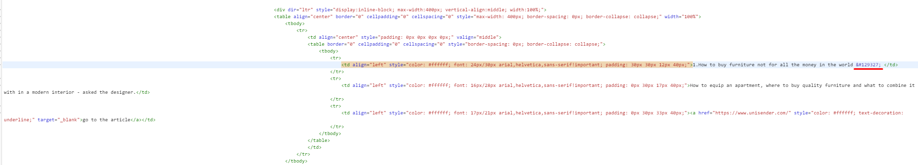 Paste the HTML code