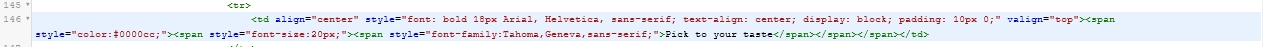Select and delete this piece of code