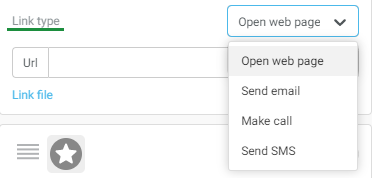 Selecting the link type.