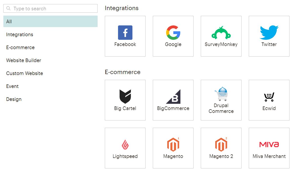 Интеграции в MailChimp