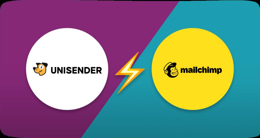Mailchimp vs Unisender. Features and pricing comparison