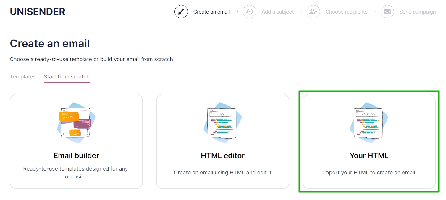 Your HTML section where you can insert your own HTML code