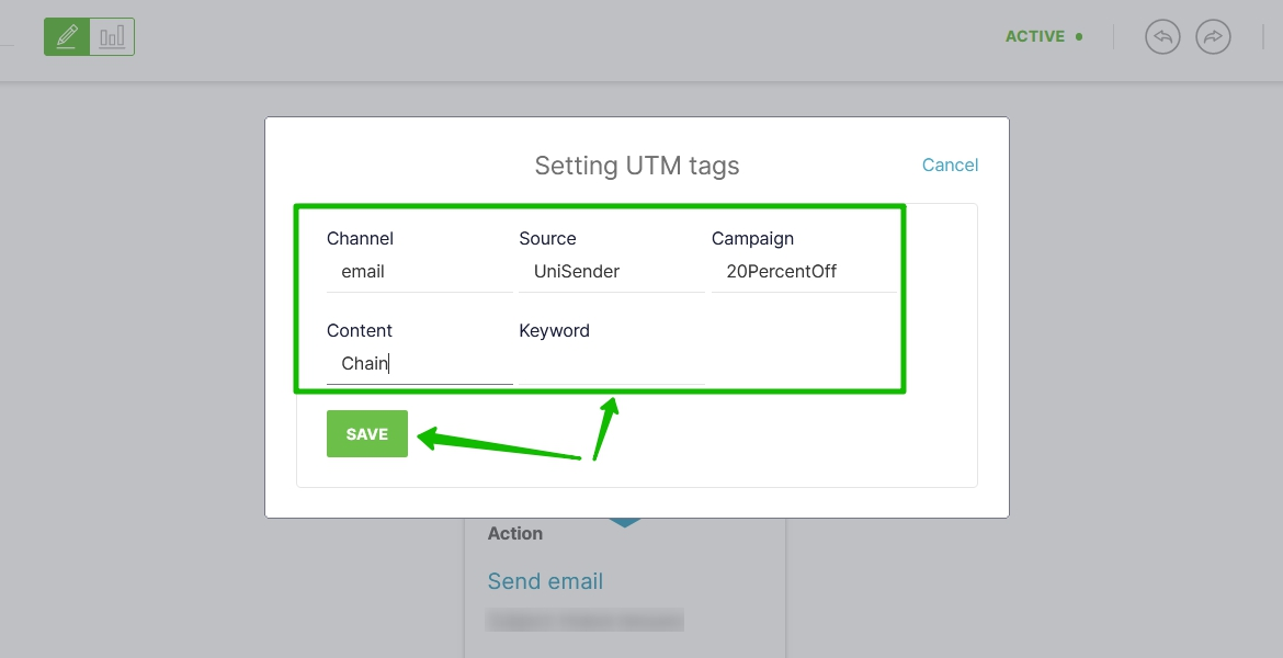 Give your own tags and click on the Save button.