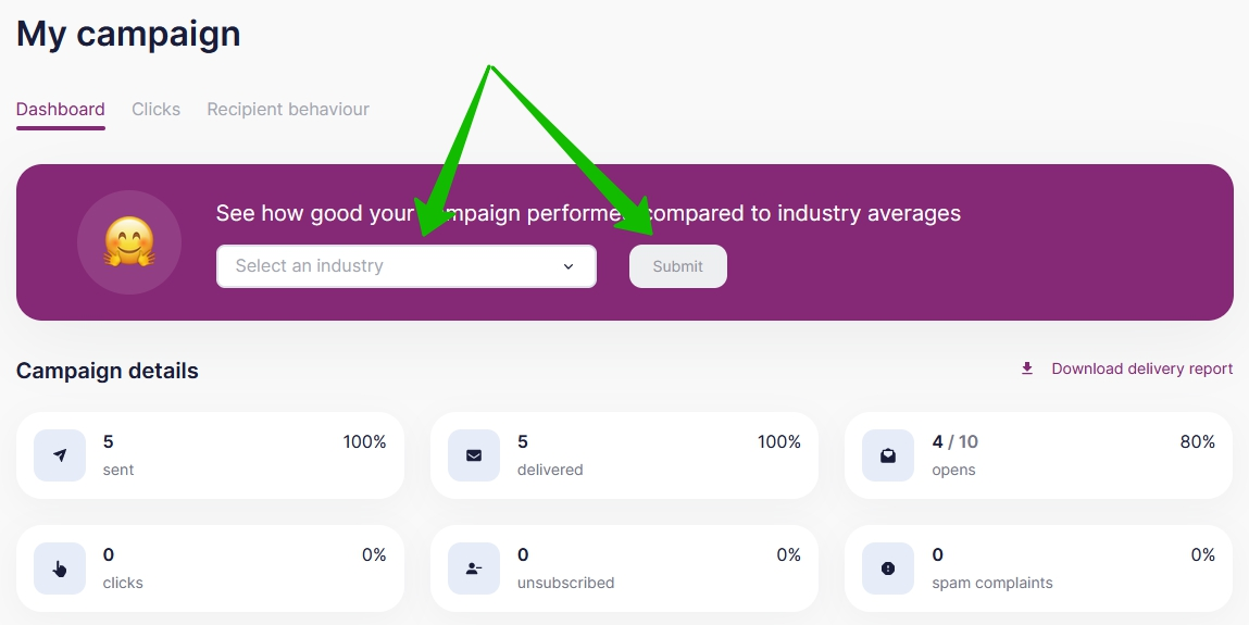 Select your industry to compare.