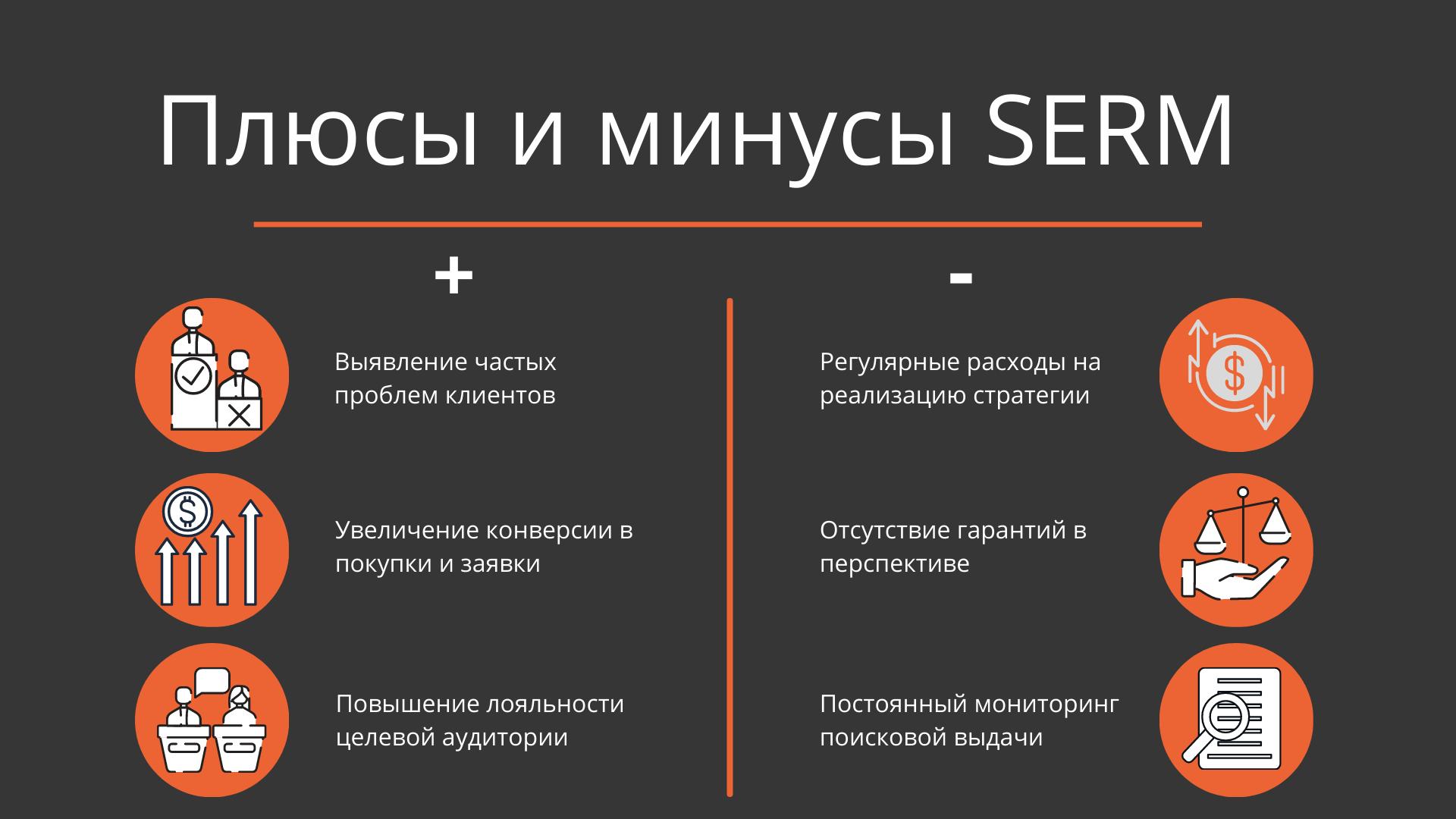 Плюсы и минусы SERM