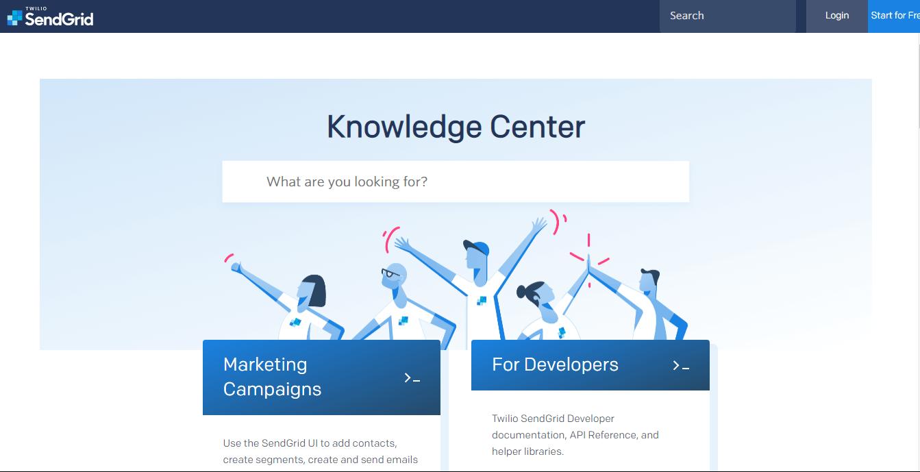 база знаний SendGrid