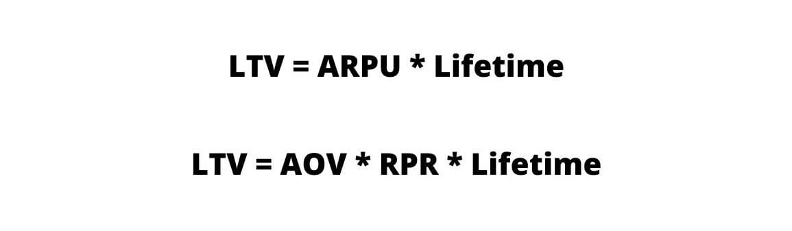 Формулы расчета LTV